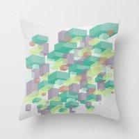 Cubes #1 Throw Pillow