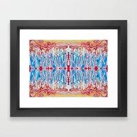 Drippy Stripes Framed Art Print