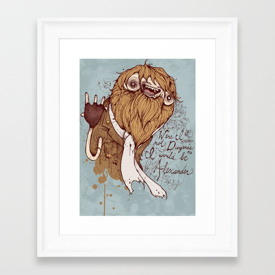 Were I not Diogenes Framed Art Print