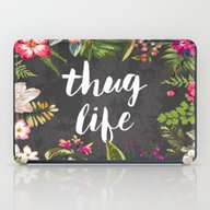 iPad Case featuring Thug Life by Text Guy