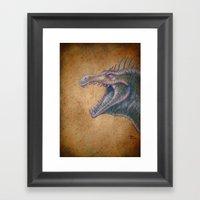 Medieval monster XVI Framed Art Print