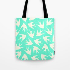 Birds (Mint) Tote Bag