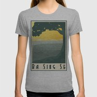 Ba Sing Se Travel Poster Womens Fitted Tee Athletic Grey SMALL