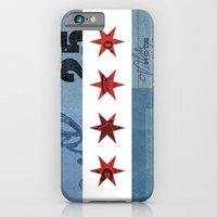 iPhone & iPod Case featuring Ephemeral Chicago Flag by Kelly Reynolds