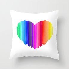 Heart art Throw Pillow