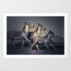 the embalmed pony show Art Print