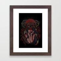 Tattooed Bear Framed Art Print