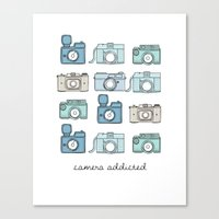 Camera Addicted Canvas Print