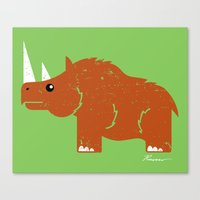 Woolly Rhino Canvas Print