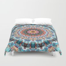 Kaleidoscopic Mandala Duvet Cover