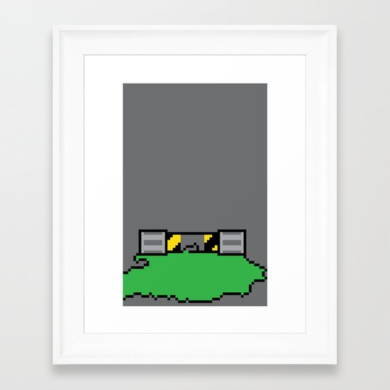 Teenage Mutant Ninja Pixels Framed Art Print