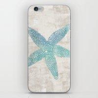 Aqua Starfish iPhone & iPod Skin