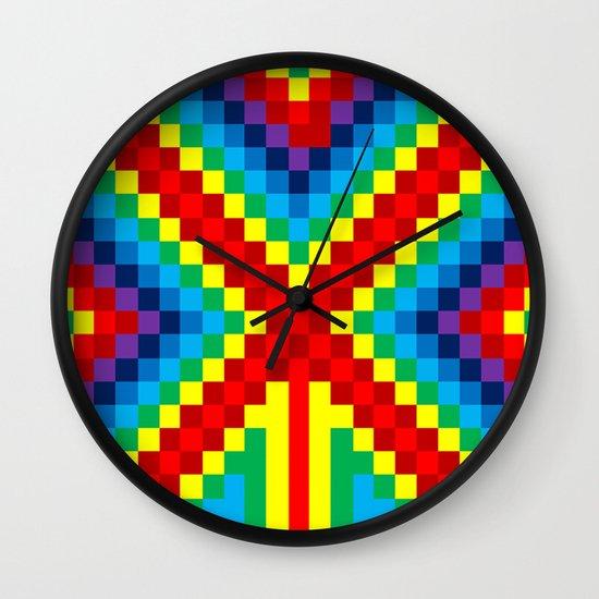 Fuzz Line #4 Wall Clock