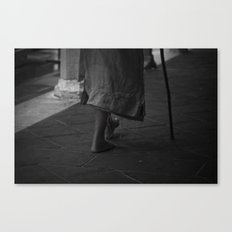 On foot Canvas Print