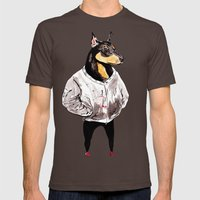 Bad Dog Mens Fitted Tee Brown SMALL