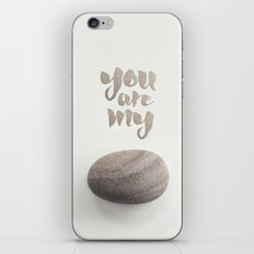 You Are My Rock iPhone & iPod Skin