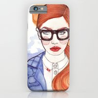Redhead With Glasses iPhone 6 Slim Case