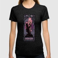 Black Lady Nouveau - Sailor Moon Womens Fitted Tee Tri-Black SMALL