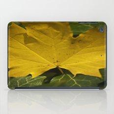 Yellow leaf iPad Case