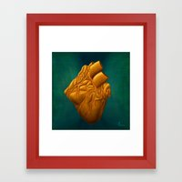 His Heart of Gold - painting Framed Art Print