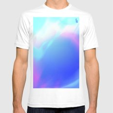 Pastel Vortex SMALL White Mens Fitted Tee