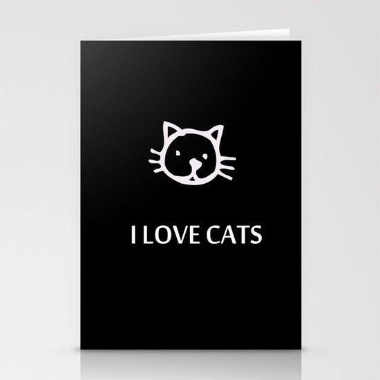 I LOVE CATS Stationery Card