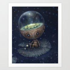 Zen Bot Art Print