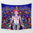 Robot Butterfly Wall Tapestry