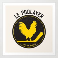 Le Poolayer Art Print