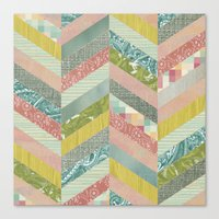 Canvas Print featuring Chevron Pattern by Elephant Trunk Studio