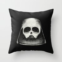 Death Vader Throw Pillow