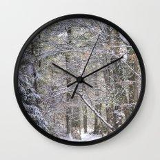 snowy road  Wall Clock