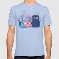 The Princess And The Doc… Mens Fitted Tee Tri-Blue SMALL