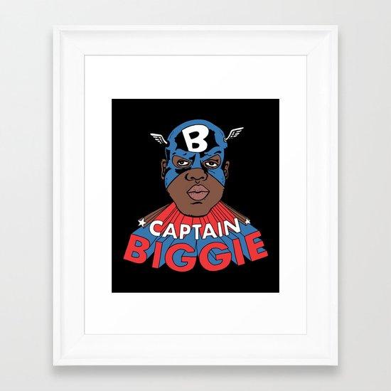 Captain Biggie Framed Art Print