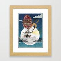 Flying Bicycle Framed Art Print