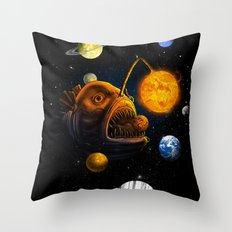 Cosmic Angler  Throw Pillow