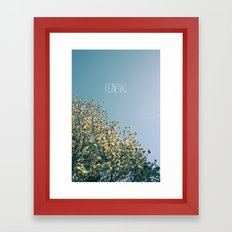 Renew Framed Art Print