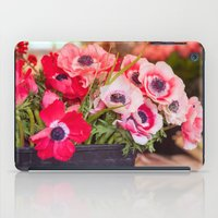 Anemones  and Bumblebee 5946 iPad Case