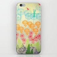 Whimsical Garden iPhone & iPod Skin