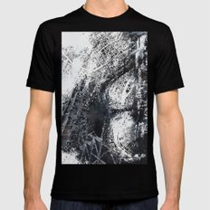 Paris Map Mens Fitted Tee SMALL Black