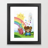 PopCorn Can Save The Wor… Framed Art Print