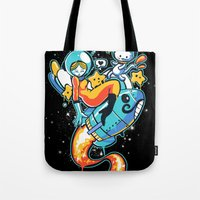 A is for Astronaut Tote Bag