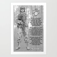 Marine With Hymn Art Print