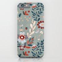 Deep Indigos & Gray Garden Hearts iPhone 6 Slim Case