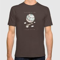 The Higher You Climb, Th… Mens Fitted Tee Brown SMALL