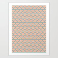 AZTEC CAT LADY Art Print