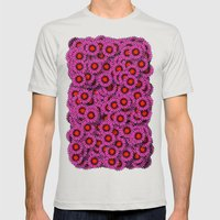 Echinacea Mens Fitted Tee Silver SMALL