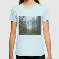 Treeline Womens Fitted Tee Light Blue SMALL