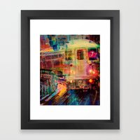 Le train  Framed Art Print