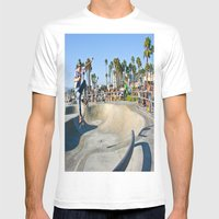 Venice Skate Park Mens Fitted Tee White SMALL